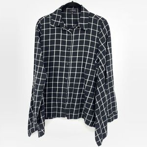 The Limited Asymmetrical Hem Button Down Shirt
